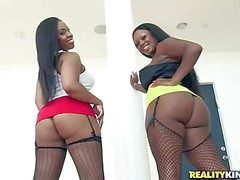 Aryana Adin and Jayden Starr are two curvaceous dark skinned