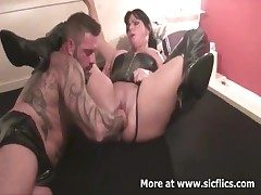 Brutally fisting my wifes huge cunt ingratiate oneself with she screams