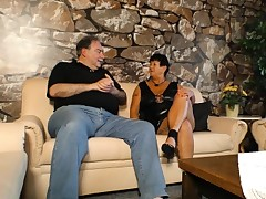 XXX OMAS - Mature inked German Plus-size gets boinked and jizzed on