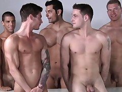 Masculine model orgy after some pro posing