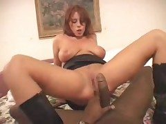Hot redhead in starless take cover boots rides starless flannel