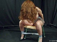 Long haired chubby circumference natural redhead Alice Bigwig with reference to huge